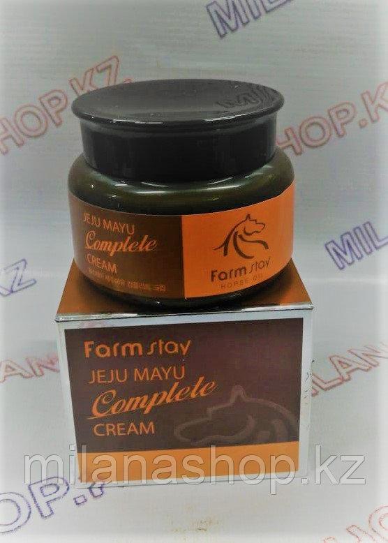FarmStay Jeju Mayu Complete Cream -  Крем с лошадиным маслом для сухой кожи