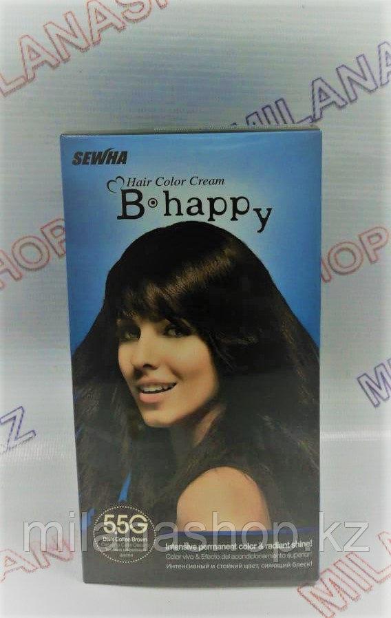 B Happy ( 5,5G ) - Краска для волос - Темный кофейный шатен