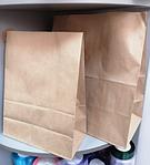 Бумажный пакет бурый 37х32х18 см 78 гр/м2, фото 2