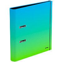 """Папка-регистратор Berlingo """"Radiance"""", 50мм, ламинированная, голубой/зеленый градиент"""