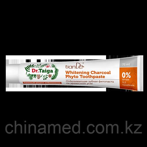 Отбеливающая зубная фитопаста на древесном угле