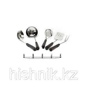Набор кухонный 5-ти предметный с пластмассовыми ручками и металлическим подвесом