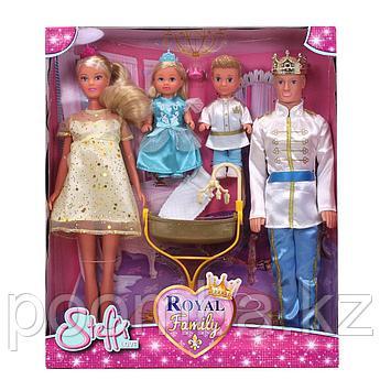 Куклы Штеффи, Кевин, Еви и Тимми Набор Королевская семья 29 см Simba