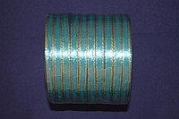 Атласная лента с люрексом 5 мм.