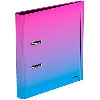 """Папка-регистратор Berlingo """"Radiance"""", 50мм, ламинированная, розовый/голубой градиент"""
