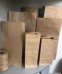 Бурые крафт пакеты 25х12х8 см 50 гр/м2, фото 2