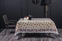 Клеенка декоративная на хлопковой основе с прозрачным ПВХ покрытием, рисунок Виноградная лоза, колорит 3