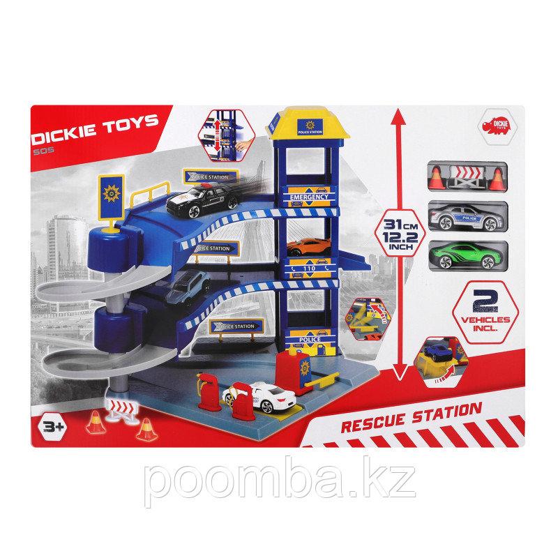 Гараж с машинками 33x29.5 см  Dickie Toys