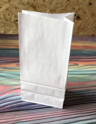 Крафт пакет белый 25х12х8 см 78 гр/м2