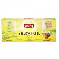 Чёрный чай Lipton Yellow Label, 25 пакетиков