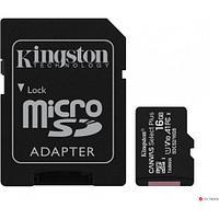 Карта памяти Kingston 16GB microSDHC Canvas Select Plus 100R A1 C10 Card + Adapter, SDCS2/16GB
