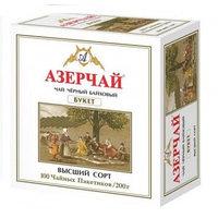 Чёрный чай Азерчай Букет, 100 пакетиков