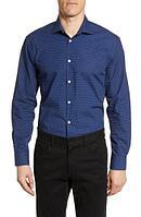 John Varvatos Star USA Мужская рубашка 190802515076 синий