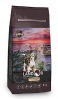 Сухой корм для щенков всех пород от 1 до 18 месяцев Landor Puppy с уткой