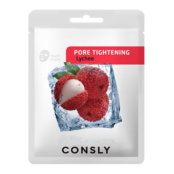CONSLY Тканевая Маска для Сужения Пор Mask Pack Lychee Pore-Tightening