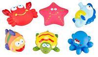 Набор игрушек Roxy Kids для ванной Морские обитатели 6 игрушек
