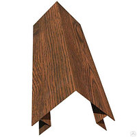 Планка угла наружнего сложного под бревно 110х110х2000  Printech «матовое дерево 3Д»