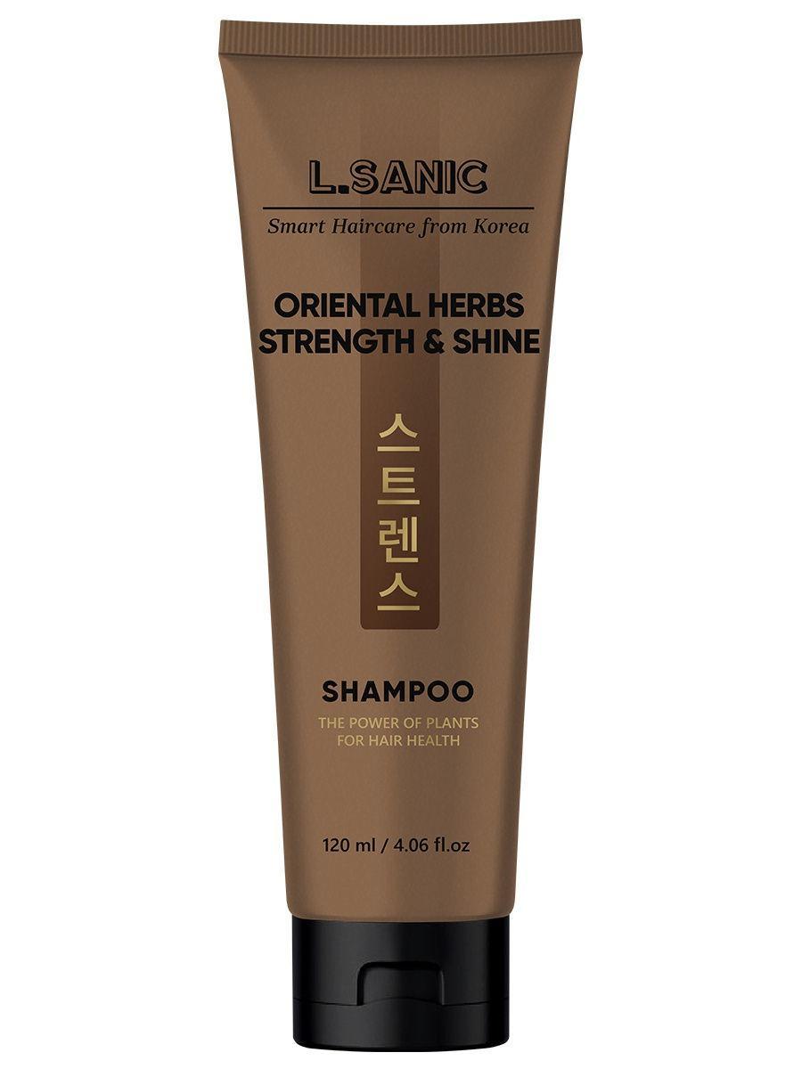 L.Sanic Укрепляющий шампунь для волос с восточными травами Oriental Herbs Strength & Shine Shampoo / 120 мл.