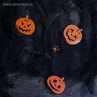 Карнавальный набор Halloween паутина, фигурки тыквы, летучие мыши