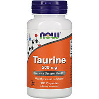 Now Food, Таурин, 500 мг, 100 капсул