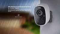 FHD уличная погодозащищенная автономная Wi-Fi видео камера со встроенным LED, микрофоном и динамиком