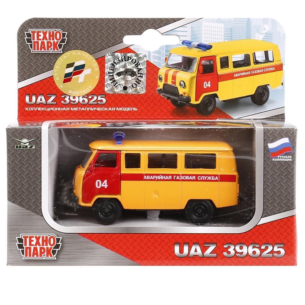 Технопарк Металлическая инерционная модель УАЗ 39625 - Аварийная служба, 9 см.
