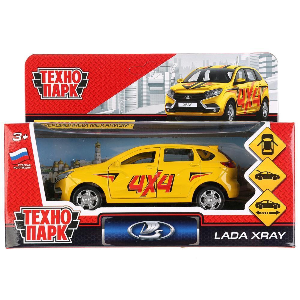Технопарк Металлическая инерционная модель Lada XRay, спорт, 12 см.