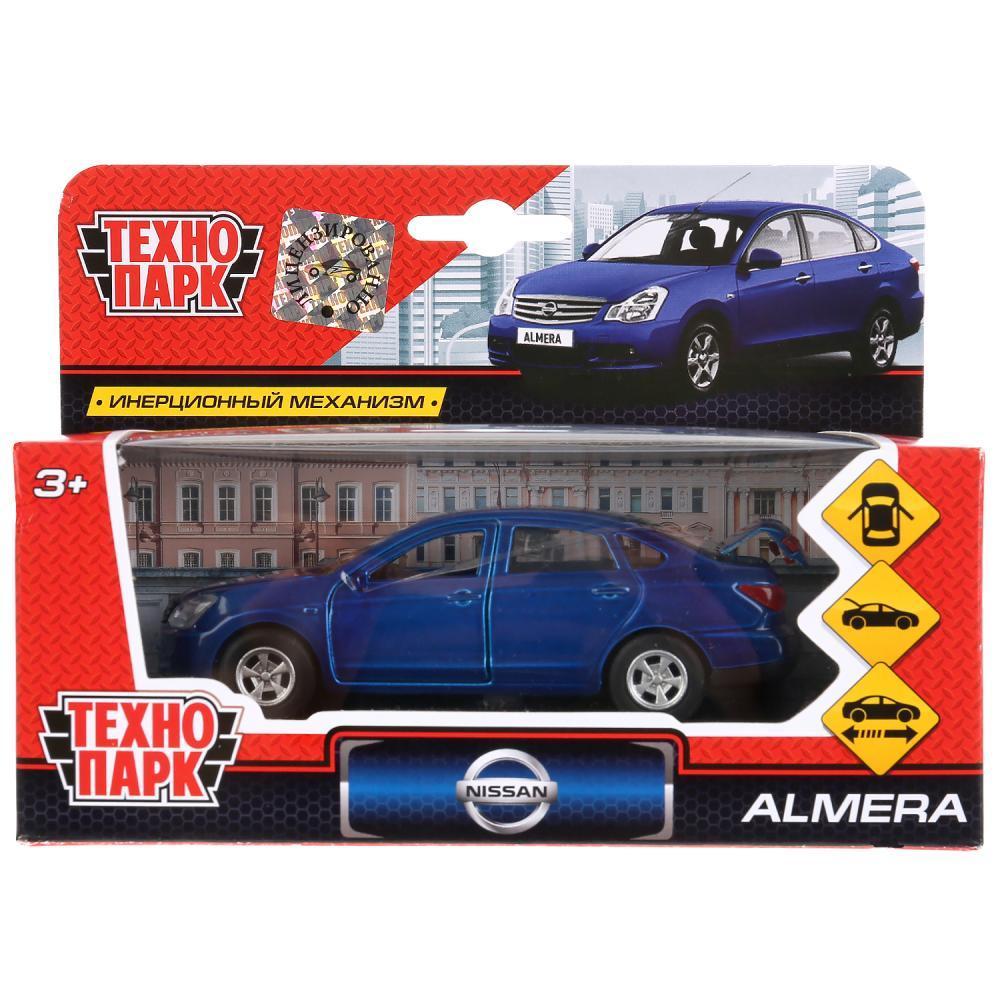 Технопарк Металлическая инерционная модель Nissan Almera, синий, 12 см.