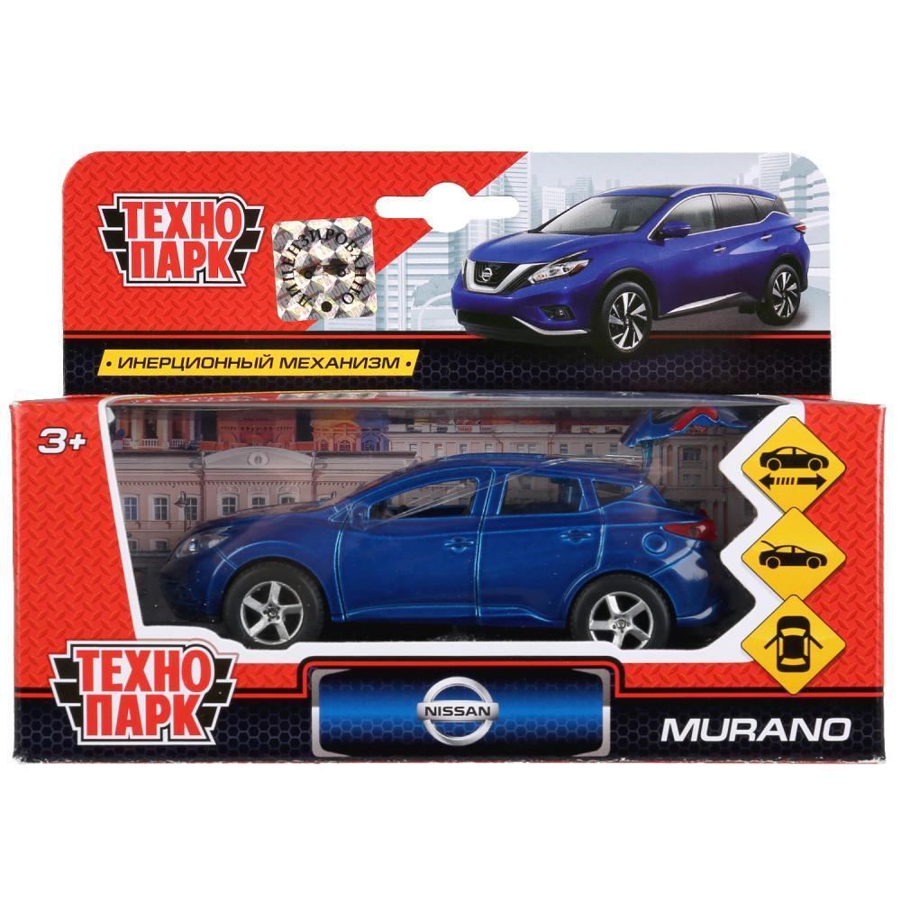Технопарк Металлическая инерционная модель Nissan Murano, синий, 12 см.