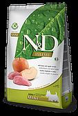 Беззерновой корм Farmina N&D Adult Mini для взрослых собак мелких пород (Кабан, Яблоко) - 2.5 кг