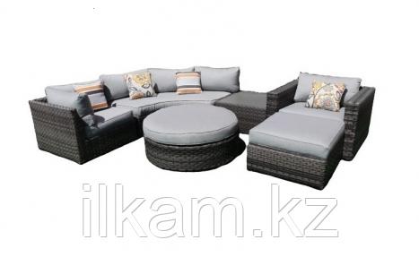 Комплект мебели угловой из ротанга, фото 2