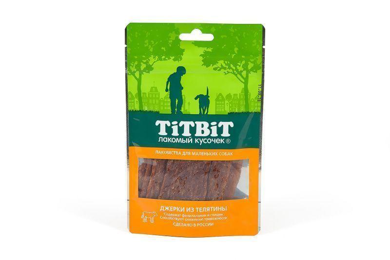Джерки c фенилаланином и глицином для маленьких собак (Телятина), TitBit - 50 г
