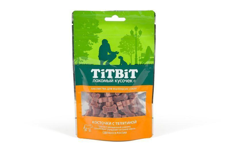 Косточки для красоты и блеска шерсти маленьких собак (Телятина), TitBit - 50 г