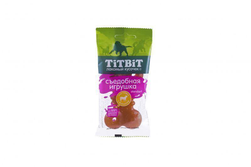 Съедобная игрушка косточка с ягненком Standart для собак средних пород, TitBit - 67 г
