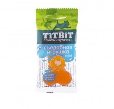 Съедобная игрушка косточка с индейкой Mini для собак мелких пород, TitBit - 23 г