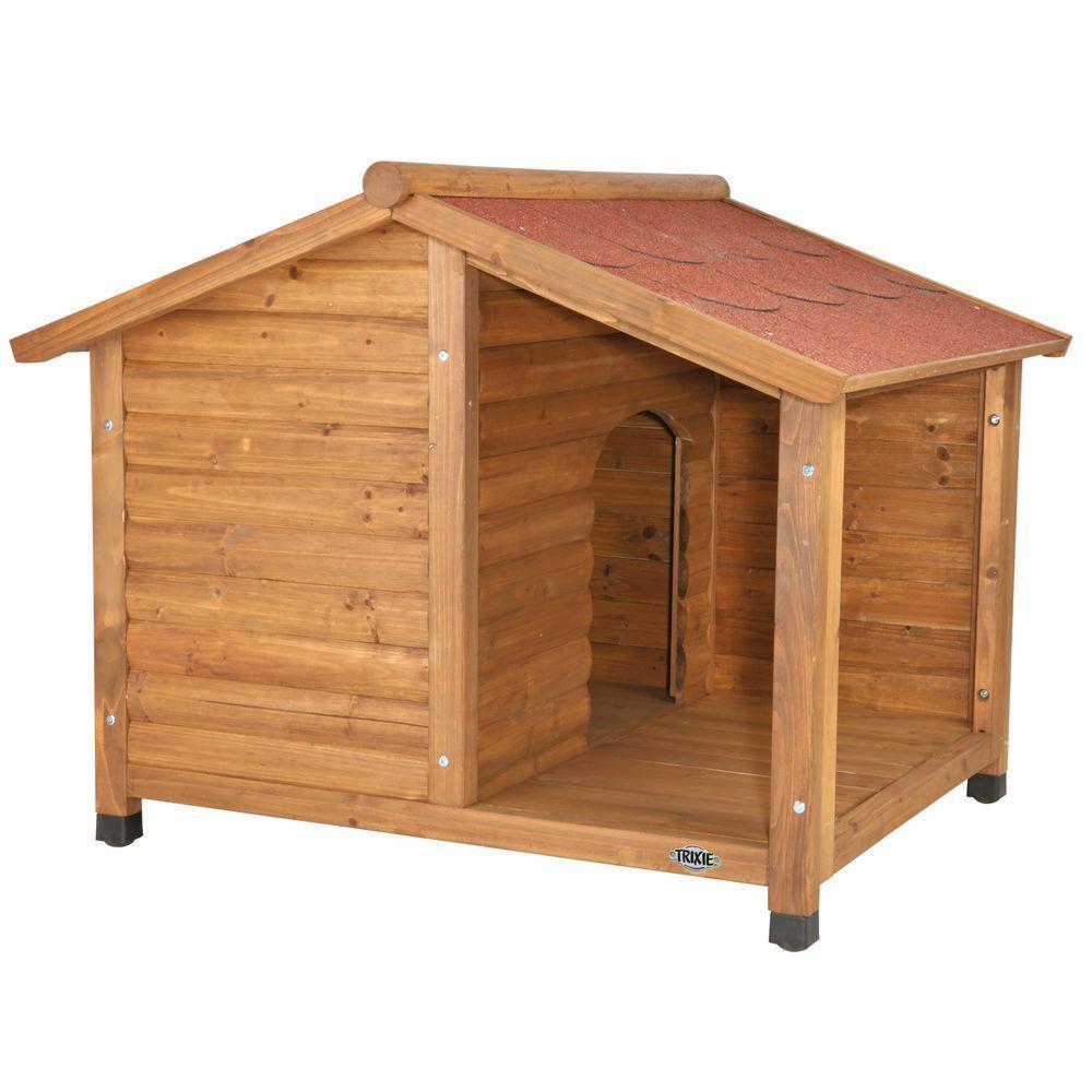 Будка Trixie для собак с крытой террасой из отшлифованной сосны - 130х100х105 см