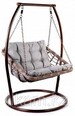 Кресло качеля подвесная из ротанга
