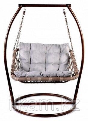 Кресло качеля подвесная из ротанга, фото 2