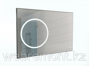 Зеркало Eclipse 100 black с подсветкой Sansa, фото 2