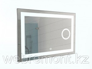 Зеркало Even 100 alum (линза) с подсветкой Sansa, фото 2