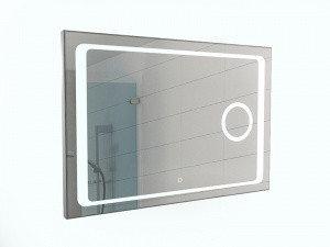 Зеркало Galaxy 100 alum (линза) с подсветкой Sansa, фото 2
