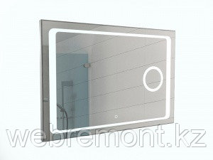 Зеркало Galaxy 100 alum (линза) с подсветкой Sansa
