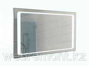 Зеркало Galaxy 120 alum с подсветкой Sansa, фото 2