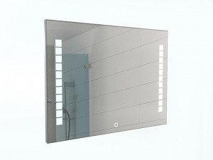 Зеркало Quadro 80 alum с подсветкой Sansa, фото 2