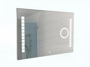 Зеркало Quadro 100 alum (линза) с подсветкой Sansa, фото 2