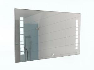 Зеркало Quadro 120 alum с подсветкой Sansa