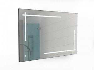 Зеркало Ray 100  black с подсветкой Sansa, фото 2