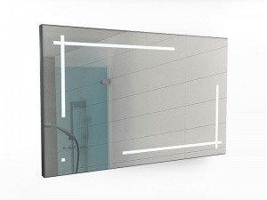 Зеркало Ray 120 black с подсветкой Sansa, фото 2