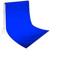 Студийный тканевый фон 4 м × 3 м синий
