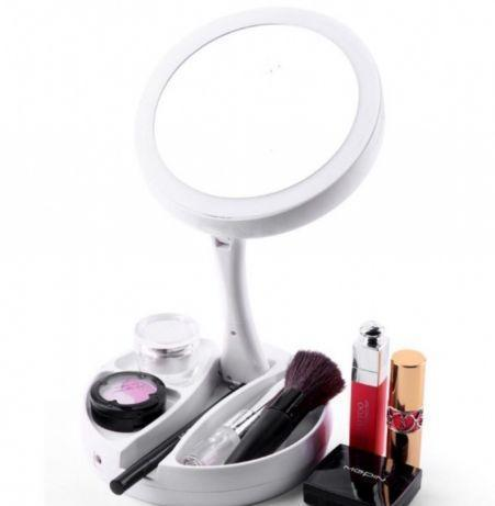 Зеркало для макияжа с  LED подсветкой двустороннее